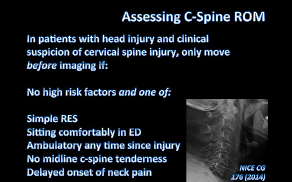 Assessing C-Spine ROM
