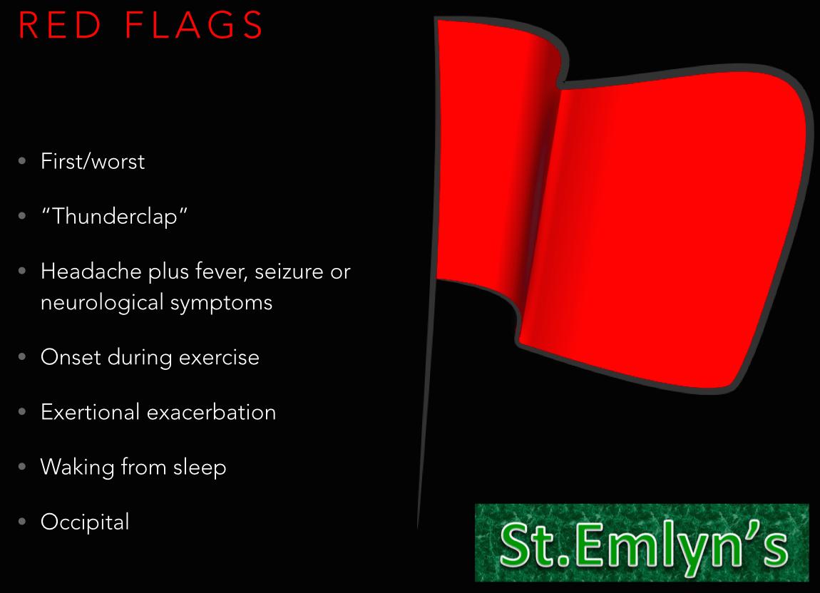 Headache Red Flags + Logo