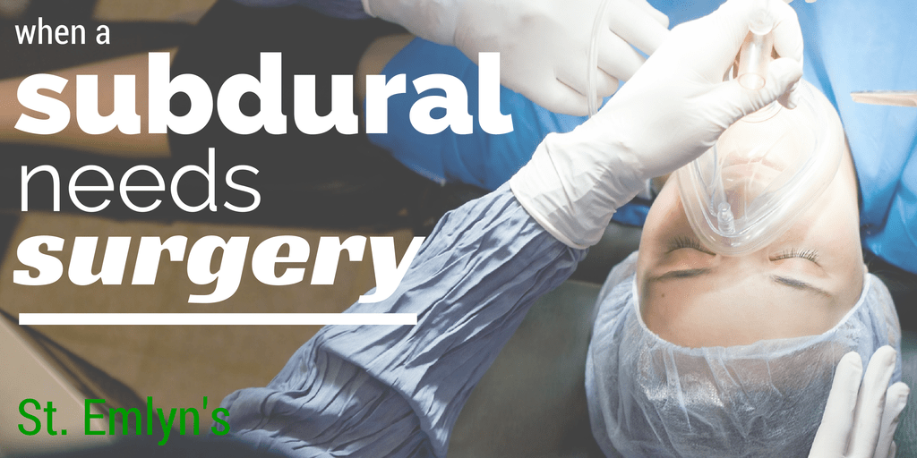 When asubdural haemorrhageneeds surgery (1)