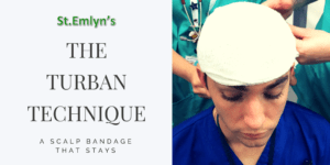 The Turban Technique – A Scalp Bandage that Stays!