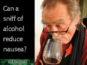 JC: Can alcohol relieve nausea. St.Emlyn's