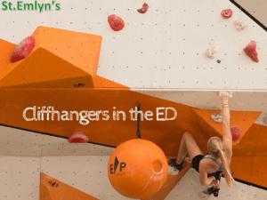 Cliffhangers in the ED. St.Emlyn's