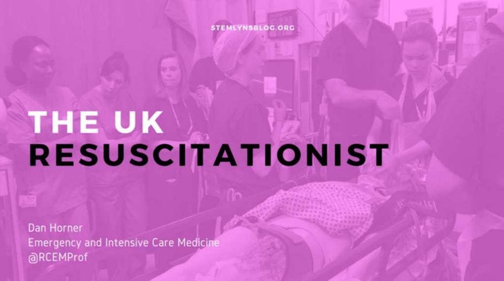 The UK Resuscitationist from #stemlynsLIVE with Dan Horner. St Emlyn's